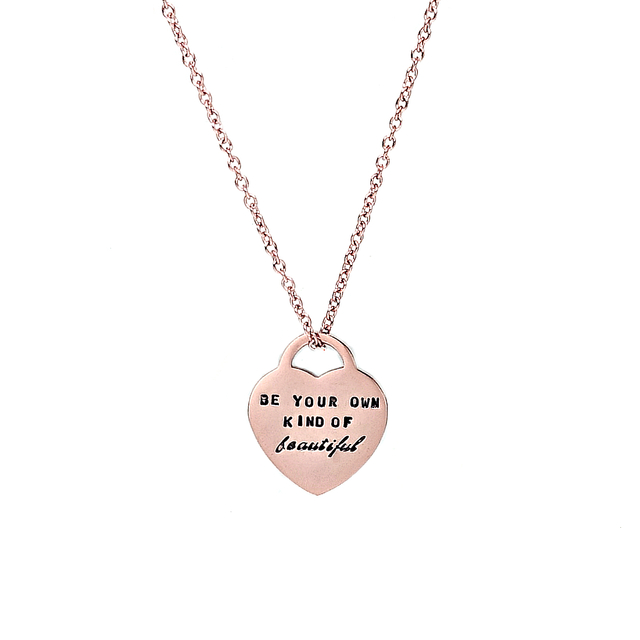Classic Heart Necklace (Rose Gold)
