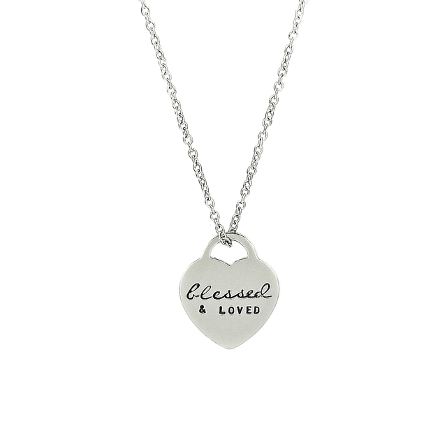 Classic Heart Necklace (Silver)