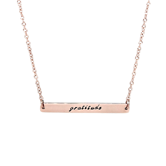 Horizontal Bar Necklace (Rose Gold )