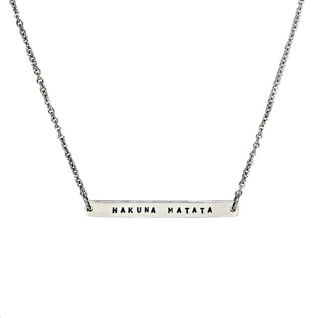 Horizontal Bar Necklace (Silver)
