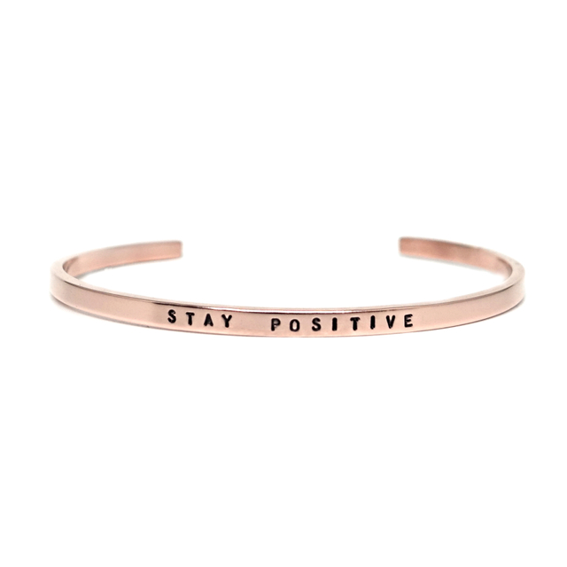 Steel Skinny Bangle (Rose Gold)