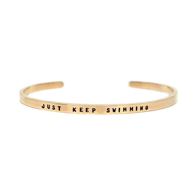 Steel Skinny Bangle (Gold)