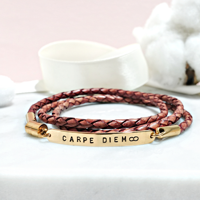 Wrapped Leather Bracelet (Antique Tanned)