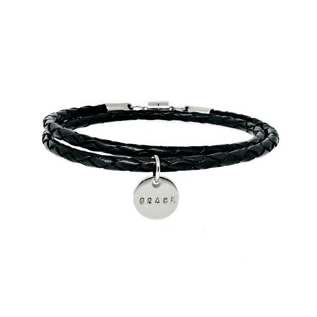 Simple Bolo Bracelet (Black)