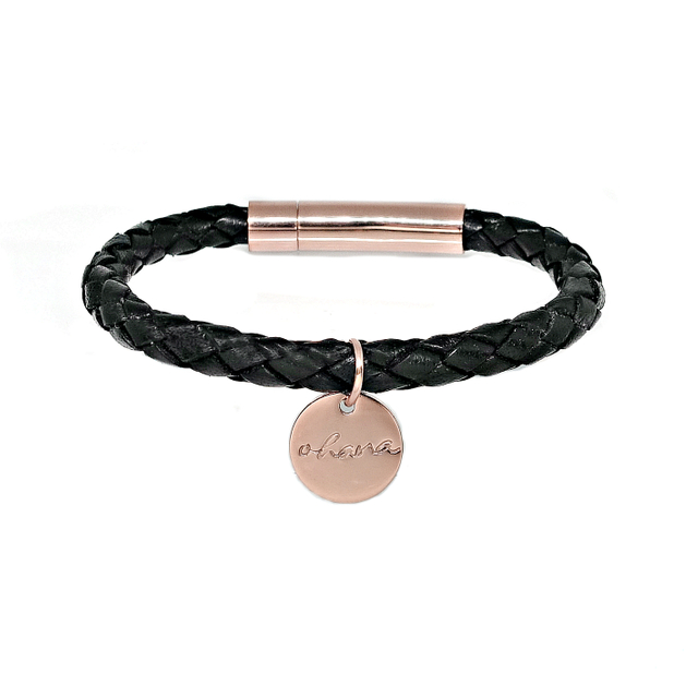 Braided Leather Bracelet (Black)