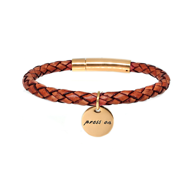 Braided Leather Bracelet (Tanned)
