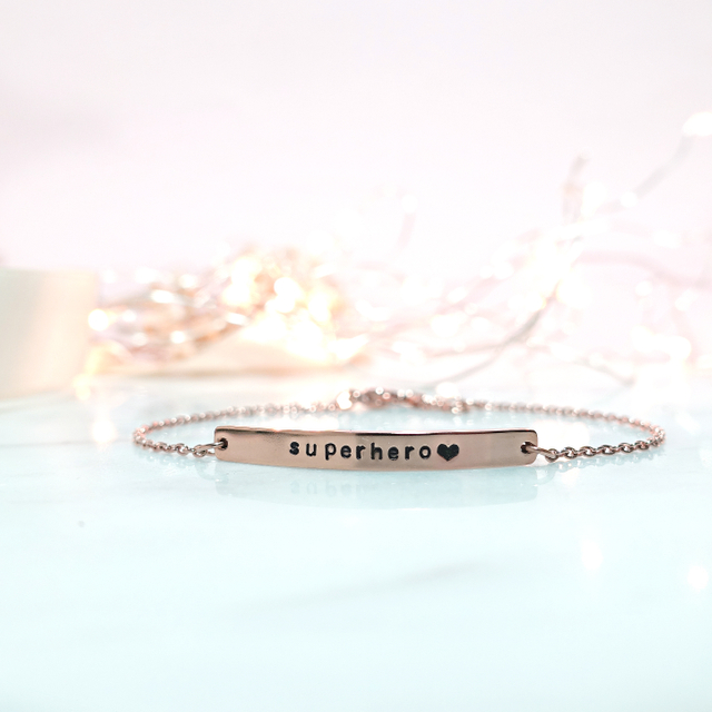 Horizontal Bar Bracelet (Rose Gold)