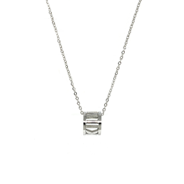 Roman Numeral Necklace (Silver)
