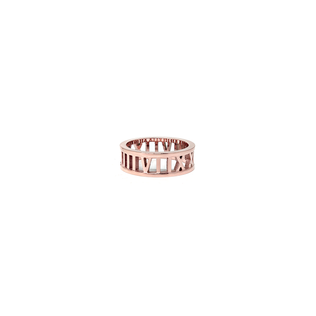 Roman Numeral Ring (Rose Gold)