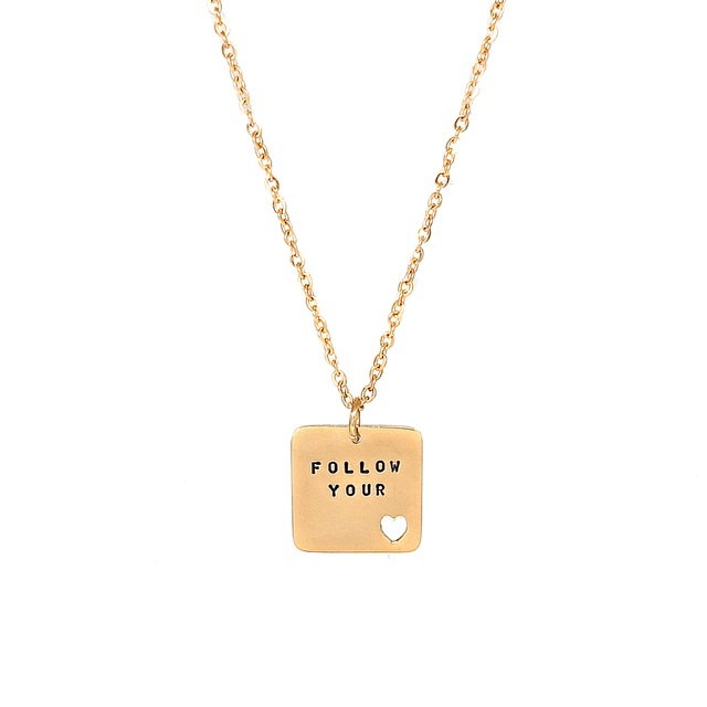 Square Sweetheart Necklace (Gold)