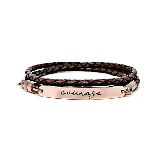 Wrapped Leather Bracelet (Antique Brown)