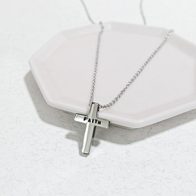 Little Cross Necklace (Silver)