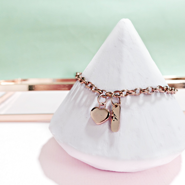 Love Conquers All Bracelet (Rose Gold)