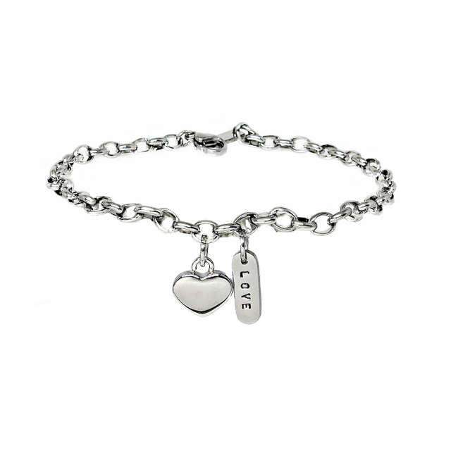 Love Conquers All Bracelet (Silver)