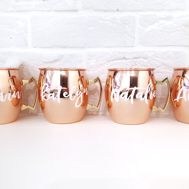 Rose Gold Calligraphy Mug