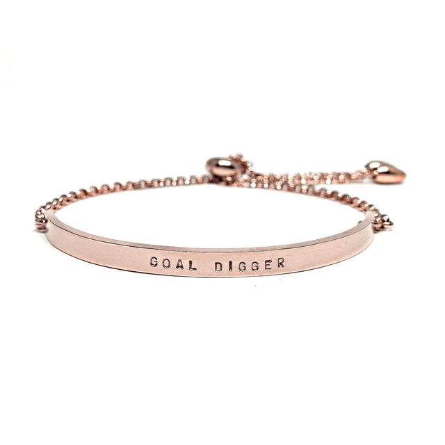Bar Sliding Bracelet (Rose Gold)
