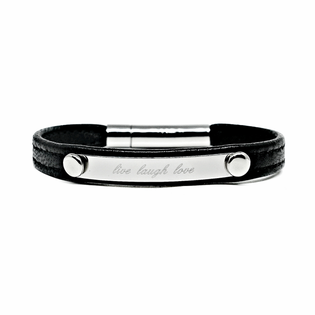 Reminder Leather Bracelet (Black)