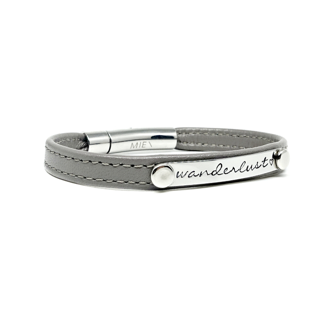 Reminder Leather Bracelet (Mystic Grey)