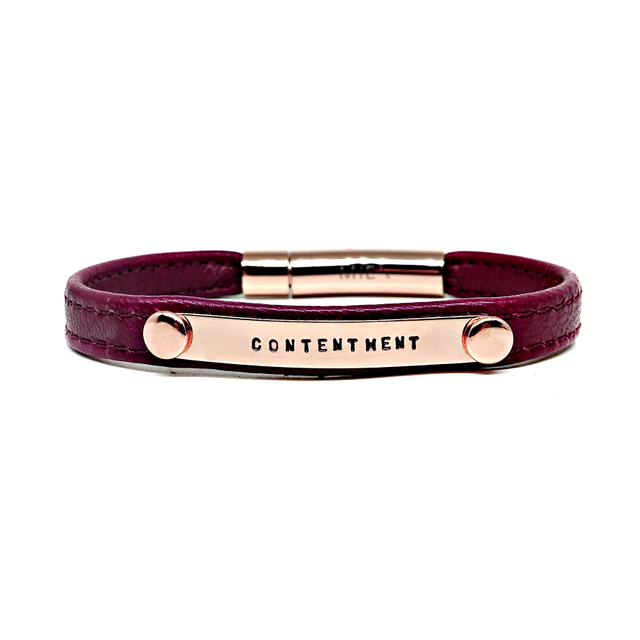 Reminder Leather Bracelet (Maroon)