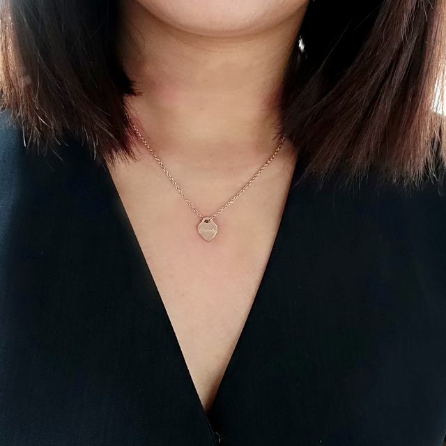 Tiny Heart Necklace (Rose Gold)