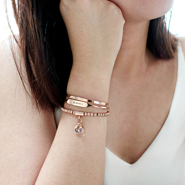 Vanya Bead Bracelet (Rose Gold)