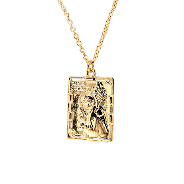 Vintage Panis Angelicus Rectangle  Necklace