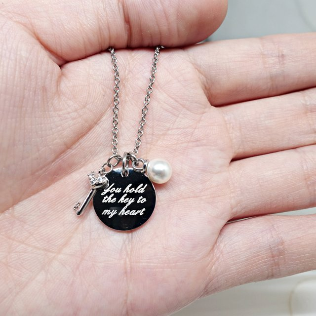 Key To My Heart Necklace (Silver)