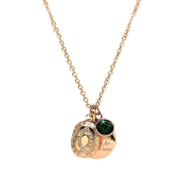 Vintage Locket Trinket Necklace (Gold)