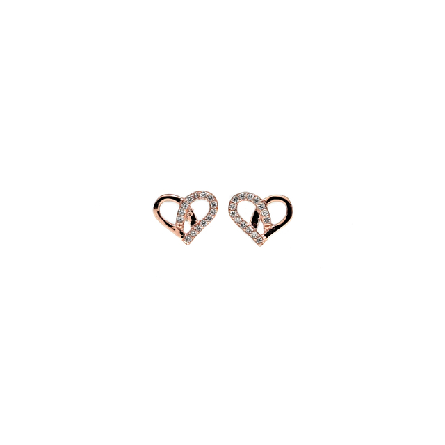 Whimsy Heart Earrings (Rose Gold)