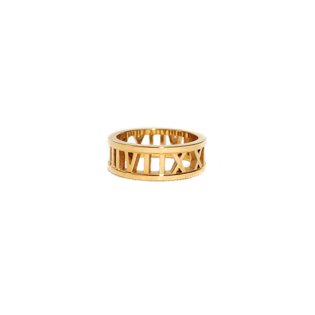 Roman Numeral Ring (Gold)