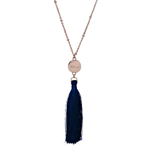 Ally Tassel Necklace (Navy)