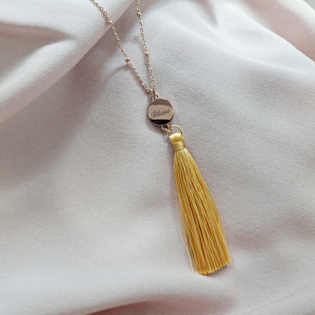 Ally Tassel Necklace (Mustard)