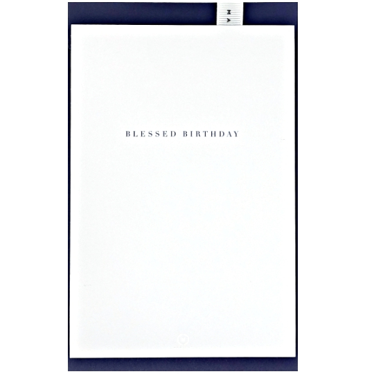 """Blessed Birthday"" Blue Card"