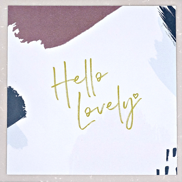 """Hello Lovely"" Card"