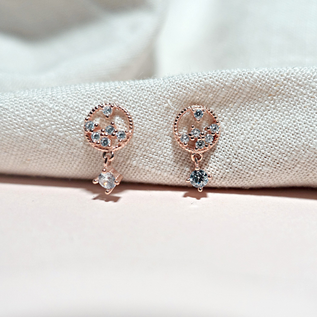 Diana CZ Earring (Rose Gold)