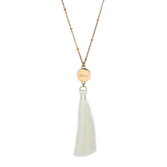 Ally Tassel Necklace (Ivory)