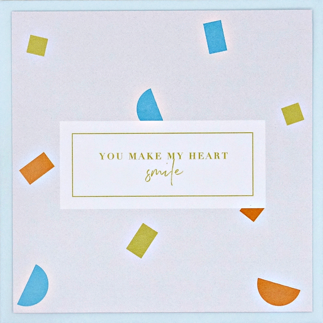 """You make my heart smile"" Card"
