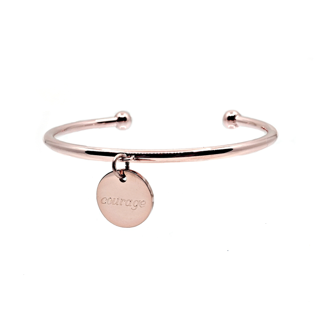 Velise Cuff Bangle (Rose Gold)