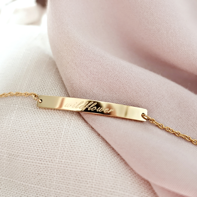 Horizontal Bar Bracelet (Gold)