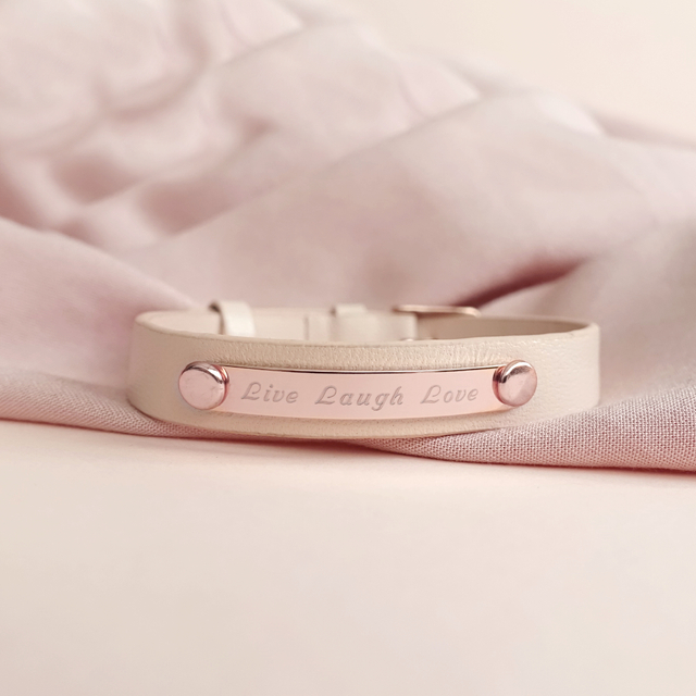 Taylor Leather Bracelet (Nude/Rose Gold)
