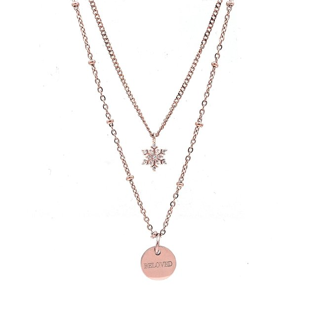 Layering Snowflake Necklace (Rose Gold) *Limited Ed.*