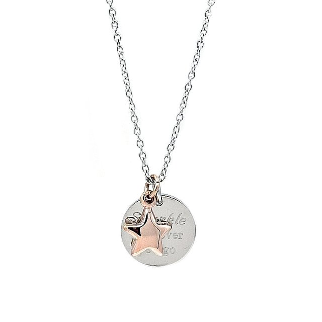 Puffy Star Necklace (Silver)