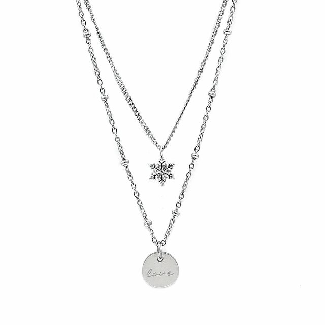Layering Snowflake Necklace (Silver) *Limited Ed.*