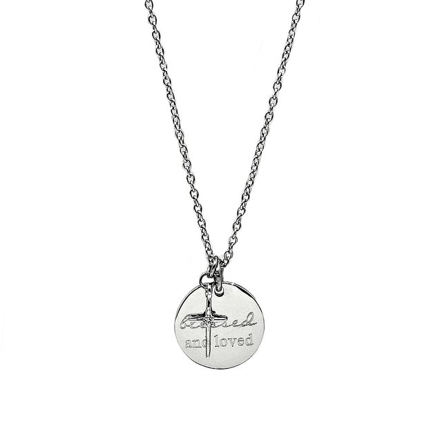 Simple Cross with Pendant Necklace (Silver)