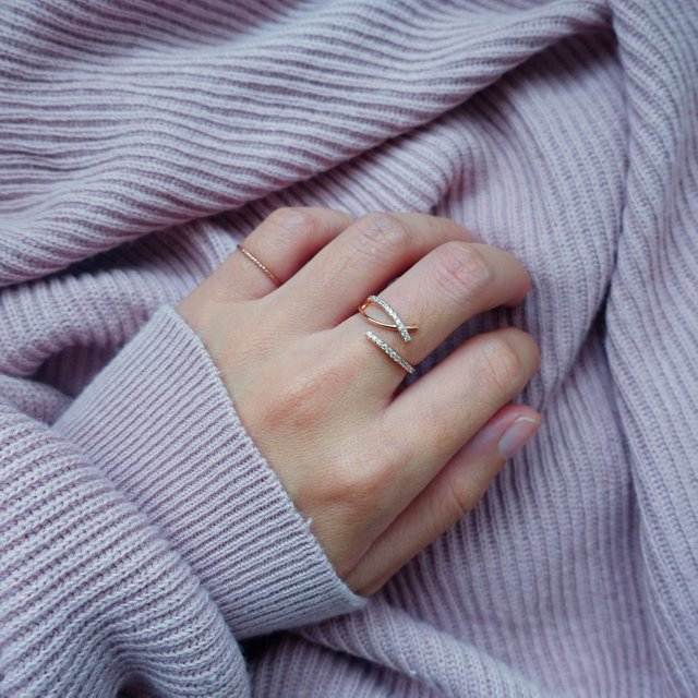 Tessa CZ Ring - Rose Gold
