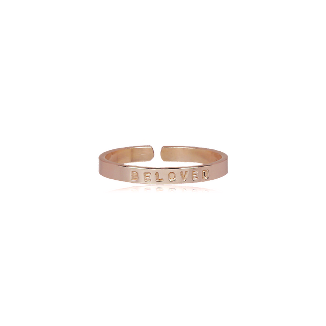 Gold Filled Thin Ring - BELOVED (SIZE 5)