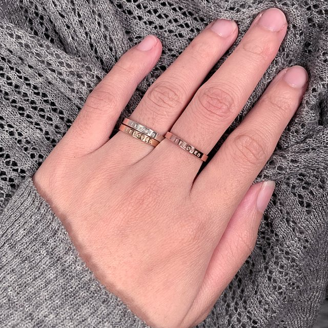 Rose Gold Filled Thin Ring - BELOVED (SIZE 6)