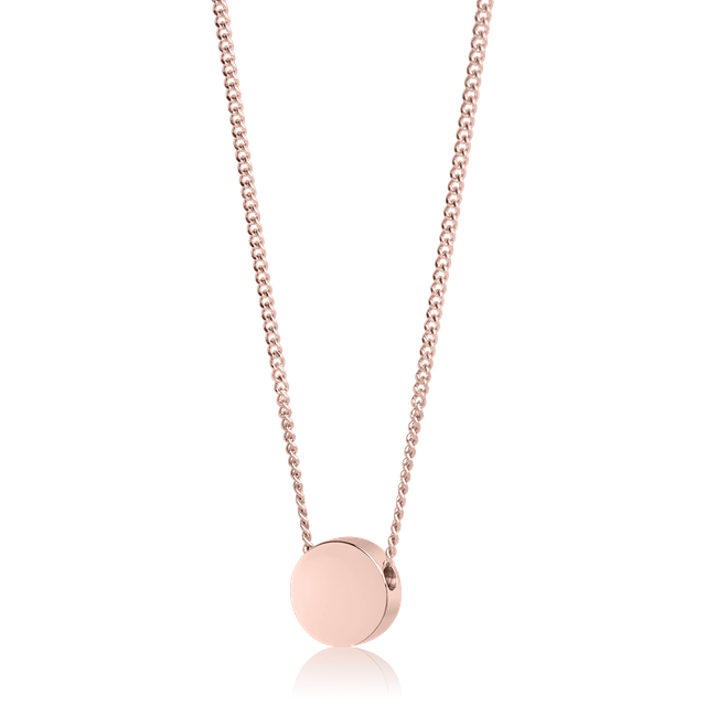 Round Bead Necklace (Rose Gold)