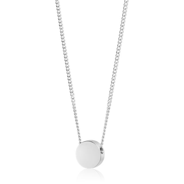Round Bead Necklace (Silver)