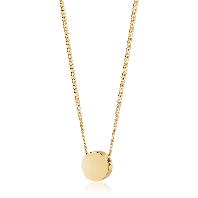 Round Bead Necklace (Gold)
